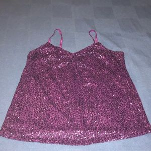 Lane Bryant,purple sequin tank top.size 18/20